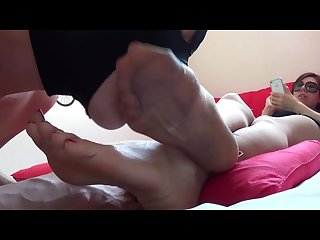 Korea foot goddess clean my dirty stocking foot