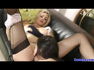 British glamour milf in lingerie lez fun