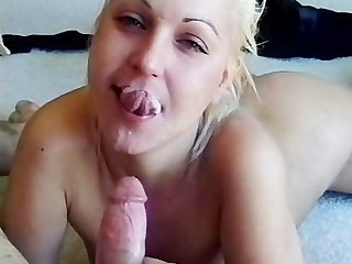 Mouth cum swallowing mature mila
