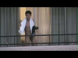 Spy asian balcony