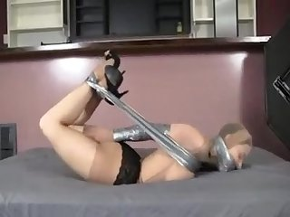 Strict tape hogtied