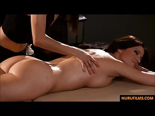 Erotic massage with two milfs