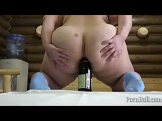 Anal with a bottle bbw irina