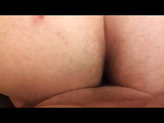 Chubby boyfriend fucking hairy chubby and shooting inside