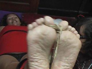 Sandra wrinkled soles tickled