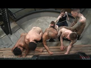 Gang of studs punish slut s ass