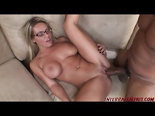 College girl with bigtits Megan Reece pounded by huge black cock