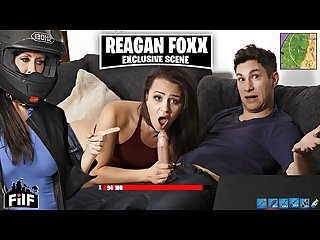 FILF - Stepmom Reagan Foxx Steals Stepson\'s Cock From His Girlfriend