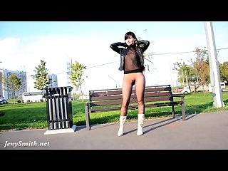 Jeny smith seamless pantyhose public flash