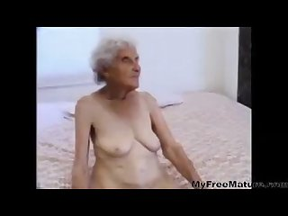Old grandma rose gets a hard penis in her