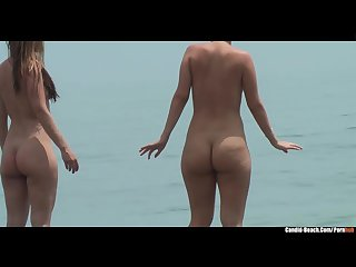 Curvy nude big ass milfs beach voyeur video hd