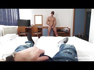 Maskurbate straight euro boy jerks big uncut cock for tourist