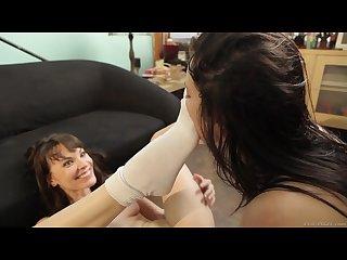 Lesbian sweat socks feet