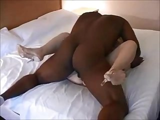 Husband watching his wife bred by bbc and eats creampie