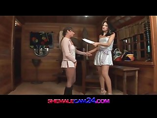 Trans500 shemale fucks a girl with a delight watch more at shemalecam24 com