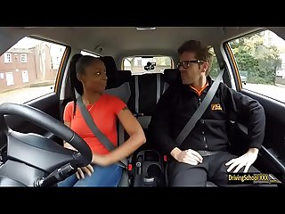 Ebony babe Lola Marie pounded in FDS car