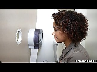 Black Girl Raven Wants To Try Out The Glory Hole (ghl14900)