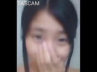 Teen asian girl in bathroom
