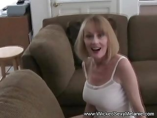 Melanie deals with a creampie