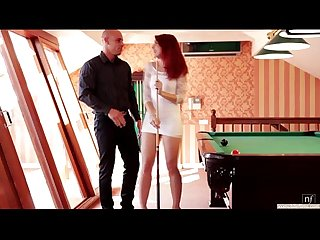 Watch hot couple finishes their frantic lovemaking back on the pool table