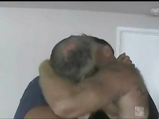Two daddy bears going at it