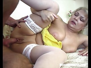 Russian Electrician Fucks An Old Fat Blonde Slut