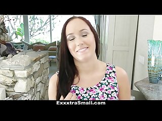 Exxxtrasmall petite holly hudson gets the big d