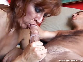 Saucy old spunker loves to fuck and swallow cum