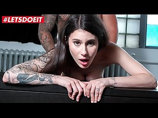 LETSDOEIT - Shy Brunette Hottie Has Rough Sex In Her First Porn Casting