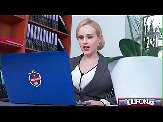 Busty Milf boss fucks big geek cock(Angel Wicky) 01 video-06