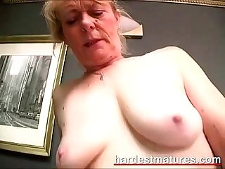 Hairy granny snatch filled