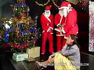 Santa s gift of gangbang