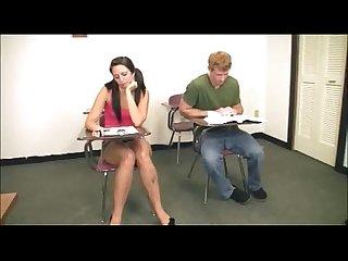 Hot schoolgirl handjob