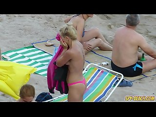 Hot Big Tits Topless MILFs - Voyeur Amateur Beach Video
