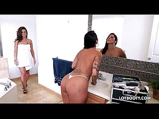 Latin milf big ass lesbians and little bitch threesome sex