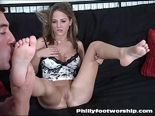 Blonde Naked Foot Worship Session at Phillyfootworship.com