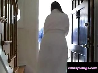 Naked Surprise for Delivery Guy, Free Porn d7: