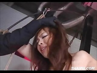 Cute asian made to orgasm