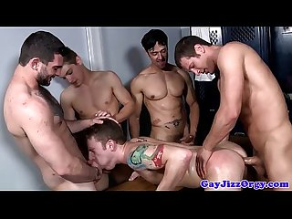 Cum loving jock dominated in lockerroom