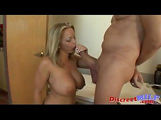 Blonde milf with younger neighbor