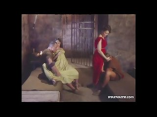 Cleare and Jyulia, DP Orgy with the Gladiators in the Cell