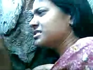 Cute Bengali Girl's Boobs Fondeled By Her Boy Friend Behind The Rocks