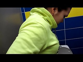 Golden shower in public toilets. Compilation fetish video.