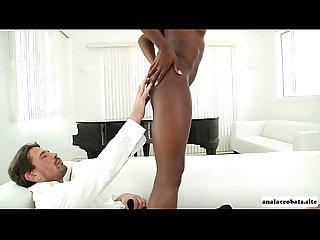 A heated interracial anal sex with ebony babe ana foxxx
