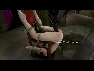 Sex slave in brutal bondage sex