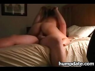 Sexy babe knows how to ride her husband