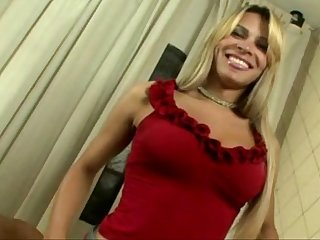 Pretty blonde young tranny