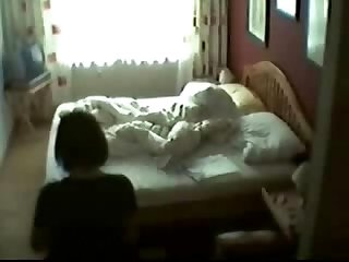 Hidden cam of my mom masturbating on bed 2
