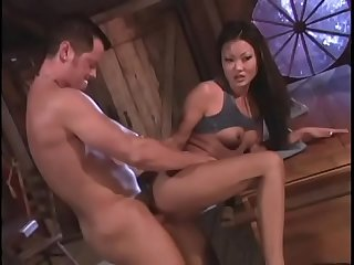 Asian gets her pussy licked and fucked and sucks cock before getting creamed