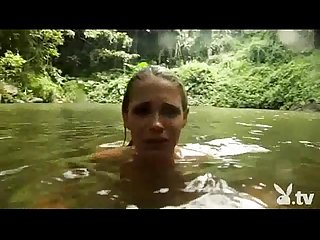 Hot Nude girls cliff jumping